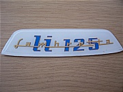 LAMBRETTA LI 125 REAR FRAME BADGE - LI 125 REAR FRAME BADGE