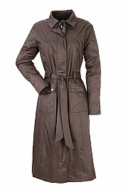 JULIA LADIES CALF LENGTH TRENCH COAT - WATERPROOF COAT